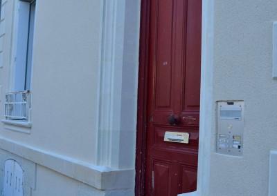 Taille de pierre, enduit à la chaux - rue San-Francisco à Tours