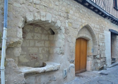Taille de pierre, enduit à la chaux - rue de la Paix à Tours
