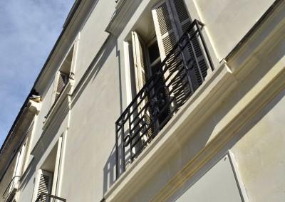 Taille de pierre, enduit à la chaux - rue Jules Favre à Tours