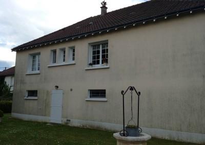 Enduit de façade à Saint-Genouph