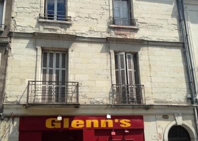 AVANT-APRES Taille de pierre, enduit à la chaux - rue Jules Favre à Tours