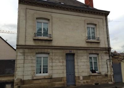 AVANT l'enduit à la chaux et taille de pierre à Saint-Avertin (37)