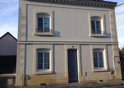 Enduit à la chaux et taille de pierre à Saint-Avertin (37)