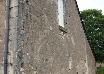 AVANT Taille de pierre à Notre Dame d'Oé