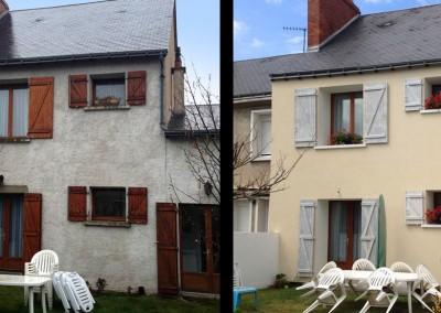 AVANT-APRES l'Isolation Thermique par l'Extérieur (ITE) à Saint-Pierre-des-Corps