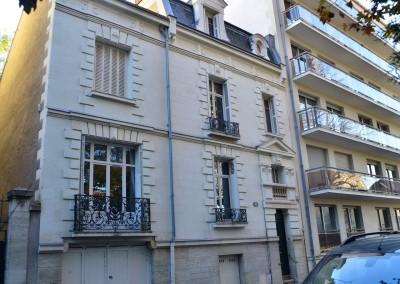 Taille de pierre, enduit à la chaux - rue Boisdenier à Tours 37