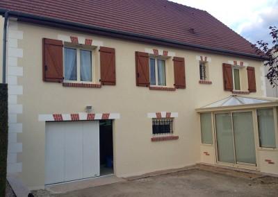 Enduit de façades à la Croix en Touraine