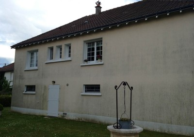 Enduit de façade à Saint-Genouph 37