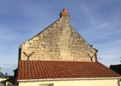 Enduit à la chaux et taille de pierre à Ingrandes (37)